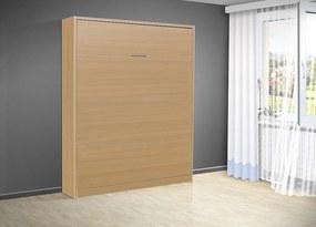 Sklápacia posteľ VS 3054 P - 200x180 cm nosnost postele: štandardná nosnosť, farba lamina: buk 381