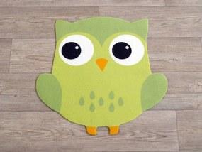 Hanse Home Detský koberec Malá sova, 66x66 cm - zelený
