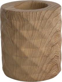 Altom Porcelánový svietnik Wood, 8 x 9 cm