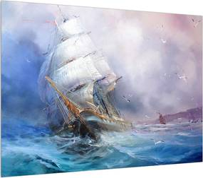 Obraz lode na rozbúrenom mori (K012372K7050)