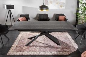 Bighome - Jedálenský stôl GLOBE II. 180-220-260 cm - sivá, čierna