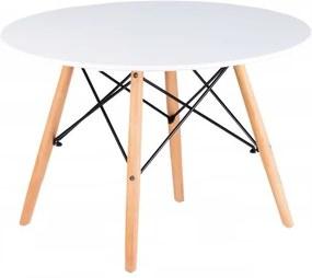 DomTextilu Štýlový biely konferenčný stolík 43129 Biela