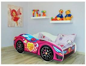 Detská posteľ Racing ružový 140x70