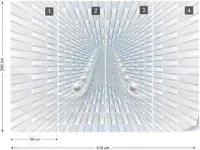 Fototapeta GLIX - 3D Abstract Design 2 + lepidlo ZADARMO Vliesová tapeta  - 416x290 cm