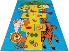 Detský kusový koberec Bambi modrý, Velikosti 100x200cm