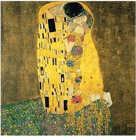 Reprodukcia obrazu Gustav Klimt - The Kiss, 40 × 40 cm