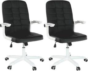 2 kusy, kancelárske kreslo, biela/čierna, ZARGO