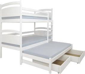FA Petra 2 200x90 Poschodová posteľ s prístelkou Farba: Orech, Variant bariéra: S bariérou