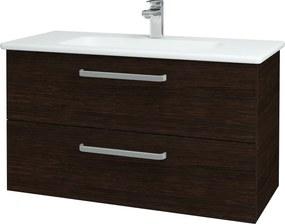 Dřevojas - Koupelnová skříň GIO SZZ2 100 - D08 Wenge / Úchytka T01 / D08 Wenge (130688A)