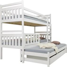 FA Petra 5 200x90 poschodová posteľ s prístelkou Farba: Orech