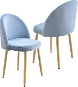 [en.casa]® Čalúnená stolička AAVC-8458