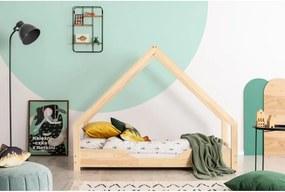 Domčeková detská posteľ z borovicového dreva Adeko Loca Bon, 100 x 150 cm