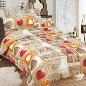 True Cotton Krepové obliečky Anemone (3-dielna sada), 140 x 200 cm