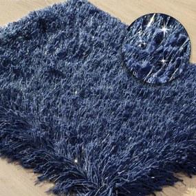 DomTextilu Koberec do kúpelne vo farbe námornícka modrá Šírka: 50 cm | Dĺžka: 70 cm 44470-208048