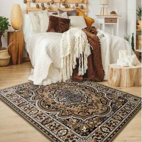 DomTextilu Hnedý koberec kusový s orientálnym vzorom 12949-126571