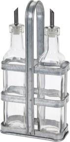 Fľaša na olej a ocot 2 ks so stojanom