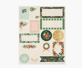 Rifle Paper Co. Vianočné nálepky Winter Floral - 3 listy