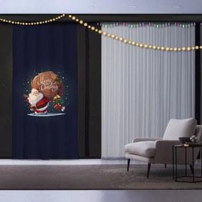 Vianočný záves Santa, 140 x 260 cm