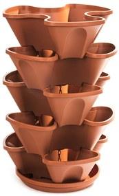 Kaskáda závesná 5-dielna terakota