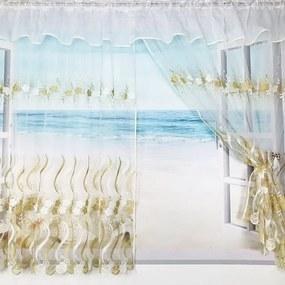 Záclona HERA - zlatá 400x150 cm