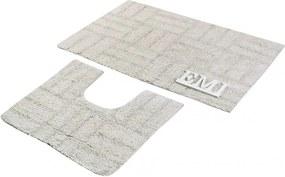 Kúpeľňové predložky bavlnené set 2 kusov EMI