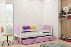 BMS Group Jednolôžková posteľ TAMI - so zásuvkou - BIELA