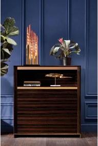 KARE DESIGN Stolná lampa Pipe Gold LED 80 cm