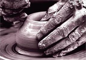 Keramická dóza na maslo Emile Henry granátová 16,5 x 11,5 cm