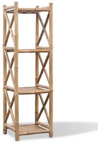 vidaXL Bambusový regál so 4 poličkami