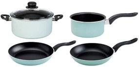 ERNESTO® Súprava hliníkových hrncov a panvíc, 5-dielna súprava (modrá), modrá (100258210)