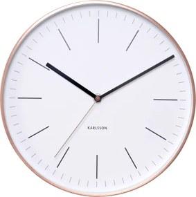 KARLSSON Nástenné hodiny Minimal biele