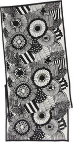 Behúň Siirtolapuutarha 47x150, čiernobiely Marimekko