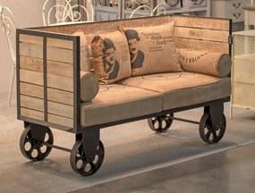 Hoff Interieur Bufetová, barová komoda na kolieskach, 116x63x60 cm