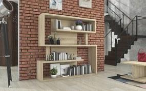 Moderná knižnica Mini Maze dub sonoma