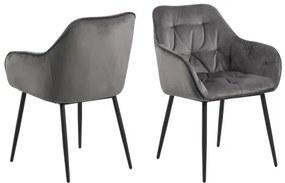 BROOKE stolička Sivá - svetlá