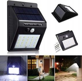 Verk Solárne vonkajšie 30 LED SMD osvetlenie s pohybovým senzorom, 01390