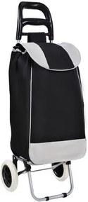 ISO Nákupná taška na kolieskach 25L, čierno - šedá, AG405