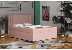 Americká posteľ 120x200 CARA - ružová 1