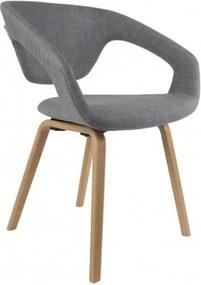 Židle/křeslo Flex Back nature/light grey Zuiver 1200126