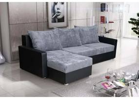 Rohová sedacia súprava KRISTER BIS, šedá + čierna