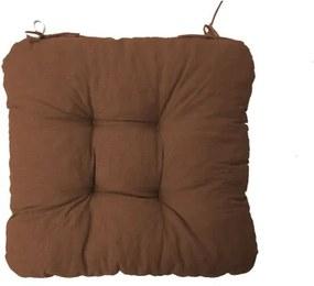 Podložka na stoličku Soft tmavo hnedá