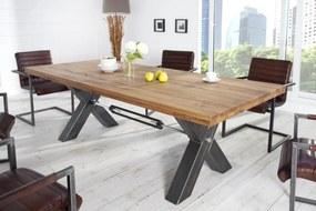Dizajnový jedálenský stôl Thunder, 200 cm, divý dub olejovaný