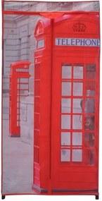 Textiln šatníková skriňa 75 x 160 x 45 cm, London