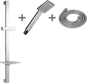Sprchový set Jika Cubito na stěnu s mydlovničkou chróm H3604210040411