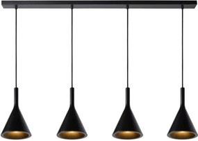 Lucide 35410/04/30 Elegantné závesné svietidlo GIPSY Pendant 4x E27 čierne