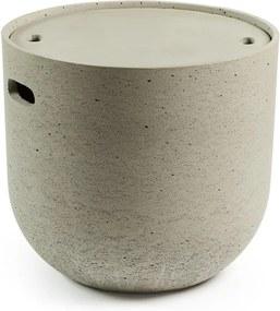 Sivý odkladací stolík La Forma Rhette, ⌀ 49 cm