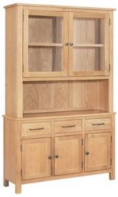 vidaXL Kredenc 110x33,5x105 cm masívne dubové drevo