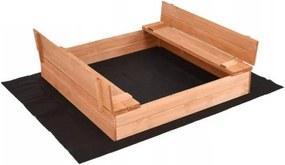 Bestent Impregnované pieskovisko s lavičkami 150cm + krycia plachta + agrotextília