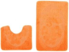 Kúpeľňové predložky 1125 oranžové, Velikosti 50x80cm