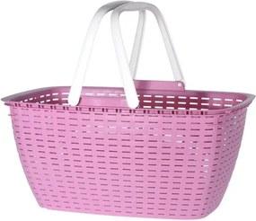 Nákupný košík Ratan, ružová